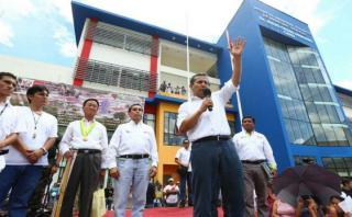 """Ollanta Humala sobre valla electoral: """"Hay que cumplir la ley"""""""