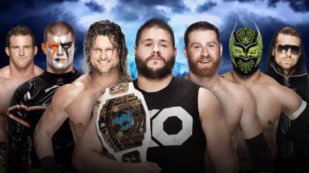 Una pelea de 7 luchadores por el título intercontinental de la WWE en Wrestlemania 32. (WWE)