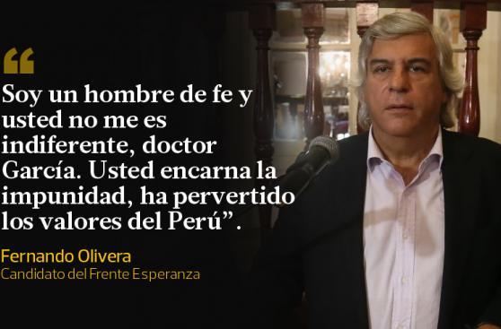 Fernando Olivera y Alan García: el duelo en frases