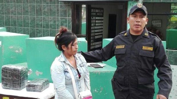 Áncash: detienen a mujer que trasladaba droga en ómnibus
