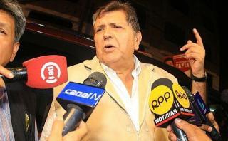 JEE declaró infundados pedidos de exclusión contra Alan García