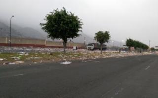 Así quedaron las calles luego de los mítines de anoche