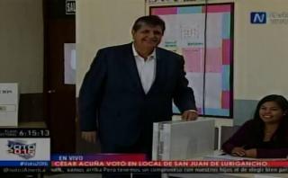 Alan García: así votó el candidato de Alianza Popular [VIDEO]