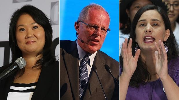 ONPE al 40,3%: Keiko 39,18%, PPK 24,25%, Mendoza 16,57%