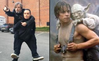 Homenaje de Mark Hamill y Daisy Ridley a escena de Star Wars