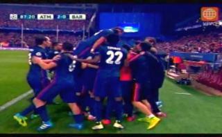 Atlético de Madrid ganó con penal tras mano de Iniesta [VIDEO]