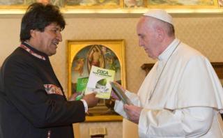 """Evo le pide al Papa que tome coca: """"Así aguanta toda la vida"""""""