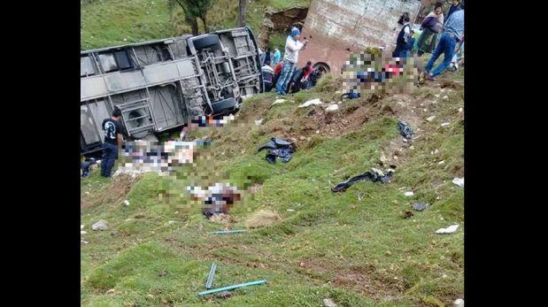 Sutrán confirma 20 muertos y 25 heridos por accidente en Pasco