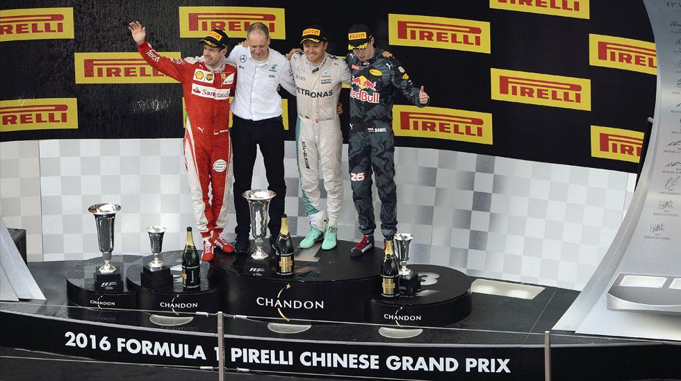 Nico Rosberg ganó su tercera carrera consecutiva de la temporada 2016 de la Fórmula 1. (fotos: Dppi)