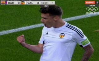 Barza-Valencia: Mina silenció el Camp Nou con el 2-0 [VIDEO]