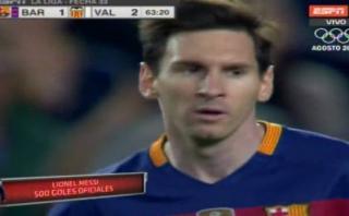 Lionel Messi anotó su gol 500 ante Valencia en Camp Nou [VIDEO]