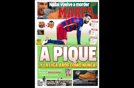 Barcelona en la derrota: prensa de Madrid se encarga de Piqué