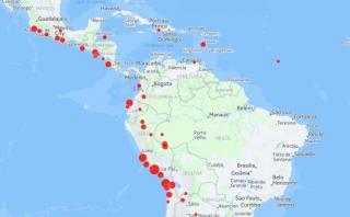 Los terremotos de 7 grados a más en los últimos 20 años [MAPA]