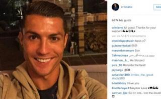 Cristiano colgó foto tras lesión y escribió este mensaje