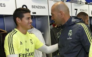 Zidane no comparte opinión de periodistas sobre James Rodríguez
