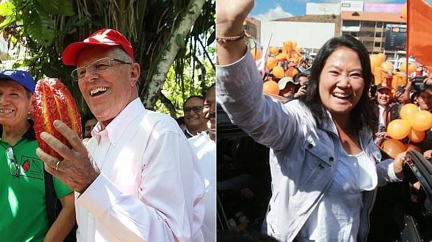PPK 43% y Keiko Fujimori 39% en segunda vuelta, según Ipsos