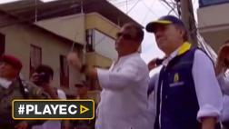 Ecuador: Santos lleva ayuda humanitaria a damnificados