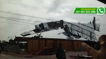 Ucayali: techos caídos por fuertes vientos y lluvias [FOTOS]
