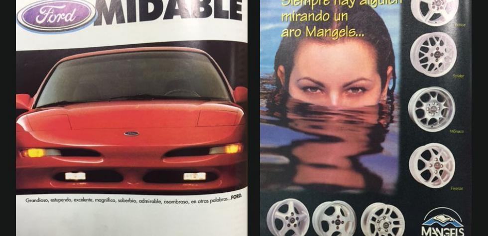 ¿Cómo era la publicidad de autos en los años noventa? [FOTOS]