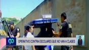Tumbes: operativo contra escolares que evaden clases [VIDEO]