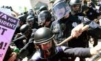 Violencia se desata en protesta contra Donald Trump [FOTOS]