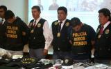 Policía presentó a bandas de extorsionadores y estafadores