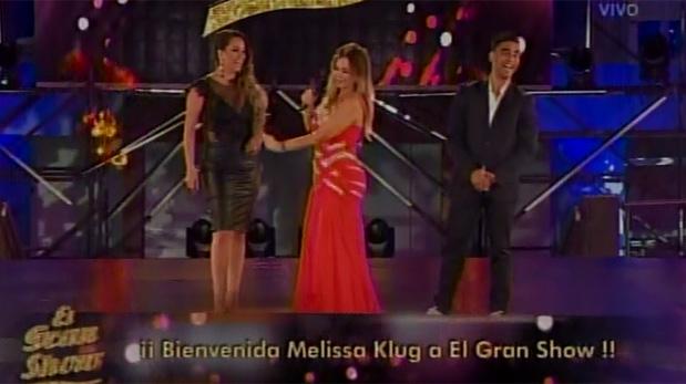 Melissa Klug y Diego Chávarri estuvieron en el primer programa de