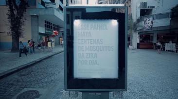 Paneles publicitarios matan al mosquito transmisor del zika
