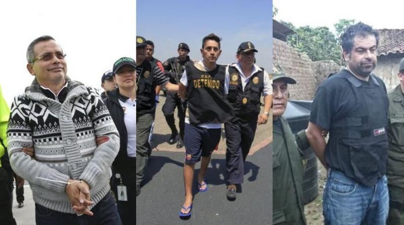 Rodolfo Orellana, Gerald Oropeza y Martín Belaunde Lossio fueron capturados en países sudamericanos (Fotos:El Comercio/Reuters)