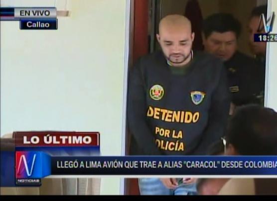 Gerson Gálvez 'Caracol' fue traído al Perú en avión de la FAP