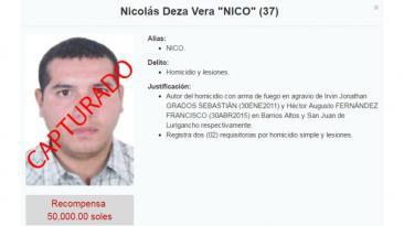 'Caracol', Carlos Sulca y los otros más buscados que ya cayeron