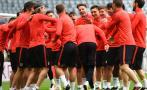 Atlético Madrid: a 'golpes' y ánimo al tope pisó Allianz Arena
