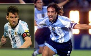 """Batistuta sobre Messi: """"El récord me lo saca un marciano"""""""