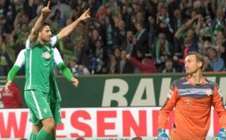 Con gol de Pizarro, Werder Bremen aplastó 6-2 al Stuttgart