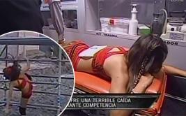 """""""Reto de campeones"""": Luciana Fuster sufrió dolorosa caída"""