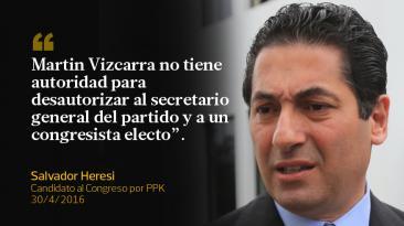 En frases: Salvador Heresi y las pugnas en el partido de PPK