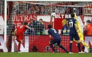 Lewandowski anotó de cabeza el 2-1 del Bayern Múnich [VIDEO]