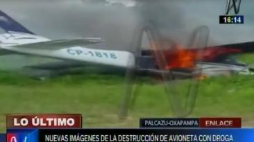 Intervienen avioneta boliviana e incautan 70 kilos de cocaína