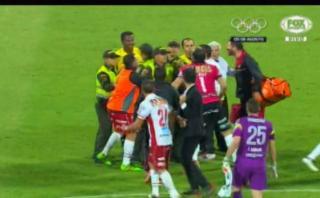 Vergonzosa gresca al término del Atlético Nacional-Huracán