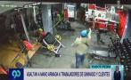 Roban S/3 mil tras golpear a empleados y clientes de gimnasio