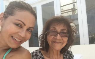 Gisela Valcárcel compartió íntimas imágenes con su mamá