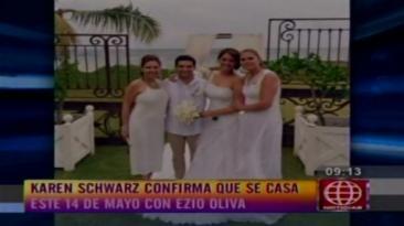 Karen Schwarz y Ezio Oliva se casarán este 14 de mayo [VIDEO]