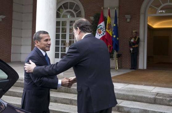Ollanta Humala se reunió con Mariano Rajoy en España [FOTOS]
