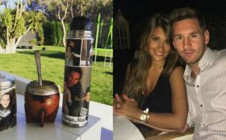 Antonella Roccuzzo tiene a Messi hasta en la hora del mate