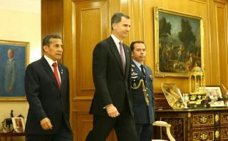 Ollanta Humala se reunió en Madrid con el rey Felipe VI