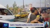 Chofer de combi recibió golpiza por cerrar el paso a taxista