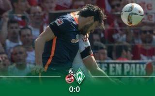 Werder Bremen igualó 0-0 contra Colonia con Pizarro en cancha