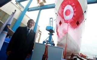 Humala participó en ceremonia de lanzamiento del buque Carrasco