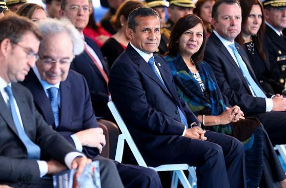 Ollanta Humala participó en botadura del buque Carrasco [FOTOS]