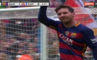 Lionel Messi y un espectacular gol de tiro libre ante Espanyol